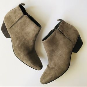 OLD NAVY Faux Suede Spring Ankle Bootie